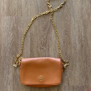 Tory Burch tan crossbody bag with dust bag